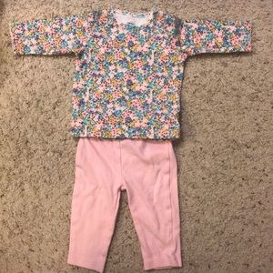 Legging and floral long sleeve matching set